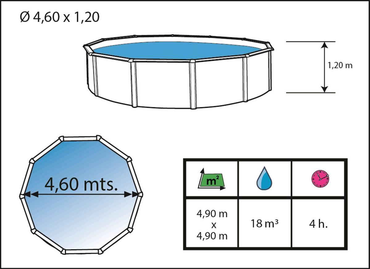 piscine hors sol en acier ronde toi pierre grise 460x120