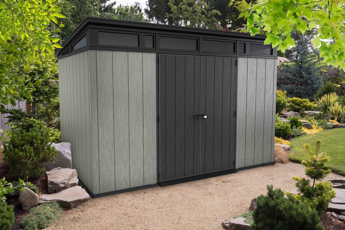 Abri De Jardin Composite keter abri de jardin résine - brossium monopente 117-8 m2