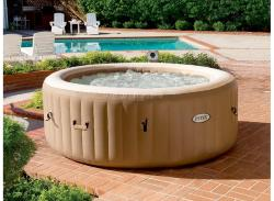 Spa gonflable Intex Pure Spa Sahara rond bulle 4 places beige
