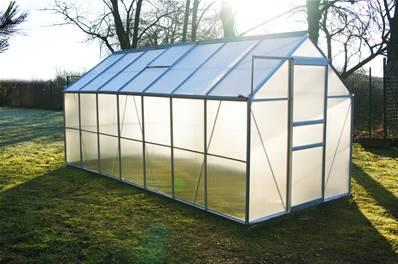 Chalet Jardin Serre De Jardin Polycarbonate 8 2m Diamant 146 Base Grise 81024