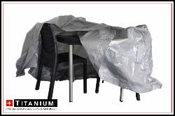 TITANIUM Housse protection table ronde & chaises – 215x215x90cm
