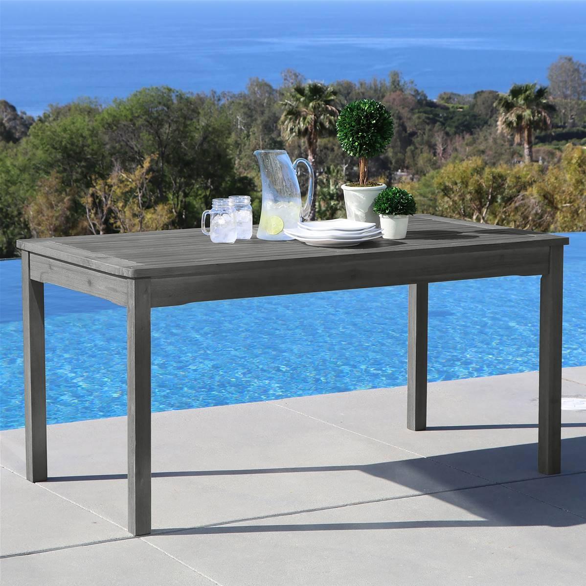 Table Bois Metal Exterieur table de salle à manger rectangulaire en bois, grattée à la main, style  renaissance pour extérieur